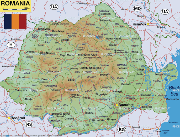 Brief interlude on romanian geography